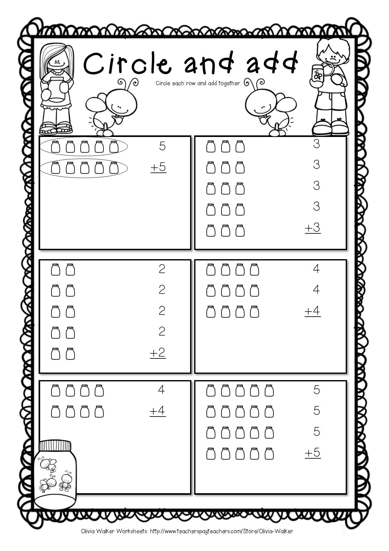 Arrays Worksheets - Grade Two Math Standard - First Multiplication ...