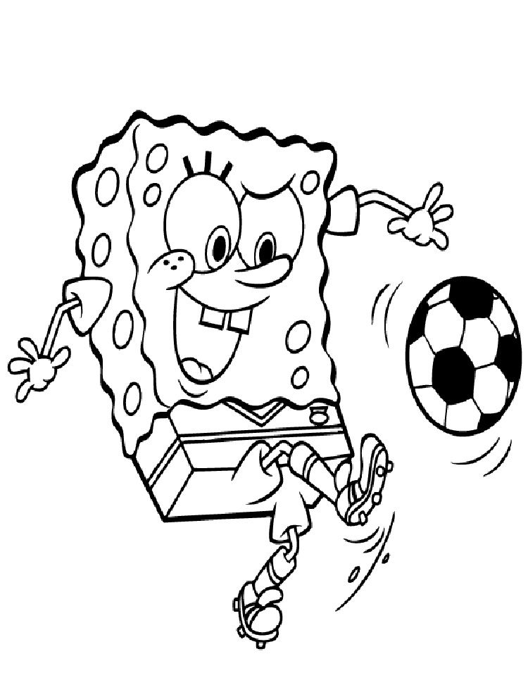 Spongebob Soccer Coloring Pages Football Coloring Pages Spongebob Coloring Sports Coloring Pages