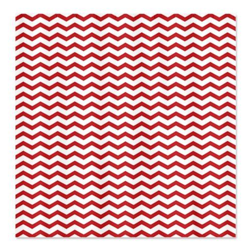 CafePress Red Chevron Shower Curtain   Standard White CafePress  Http://www.amazon