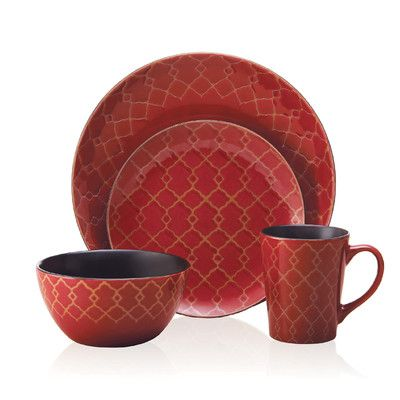 Shop our great selection of dinnerware sets for the whole family. You\u0027ll find the best brands and materials on dinnerware circular rectangular ...  sc 1 st  Pinterest & Found it at Wayfair - Vintage Lattice Everyday 16 Piece Dinnerware ...