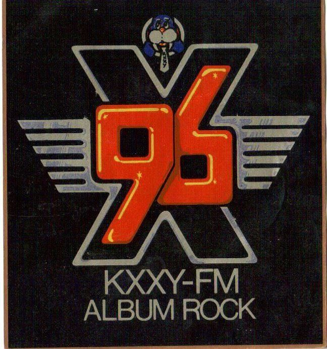 Sticker for a now defunct rock and roll radio station in oklahoma city their mascot