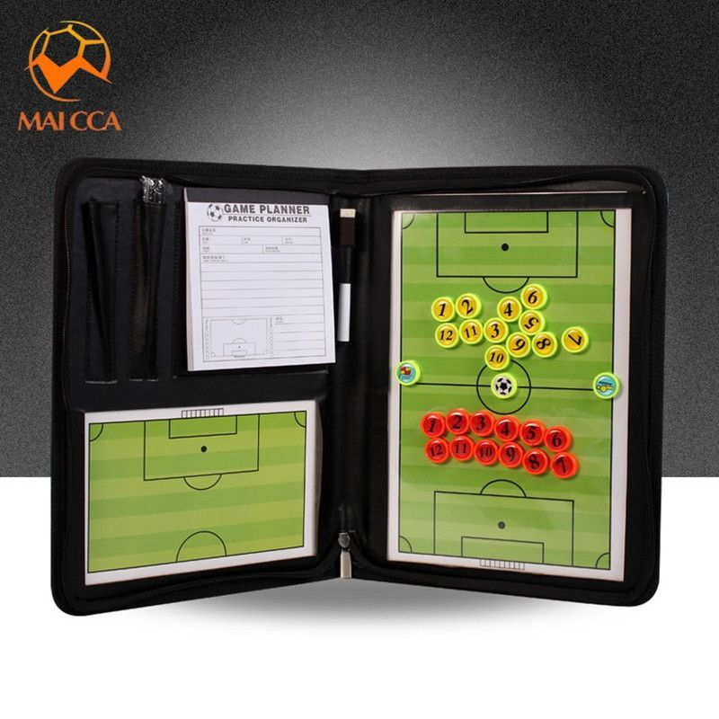 Maicca 2017 New Magnetic Soccer Board Folding Football Tactics Tactical Plate Book Set With Pen Book Box Football Tactics Handball Basketball Coach