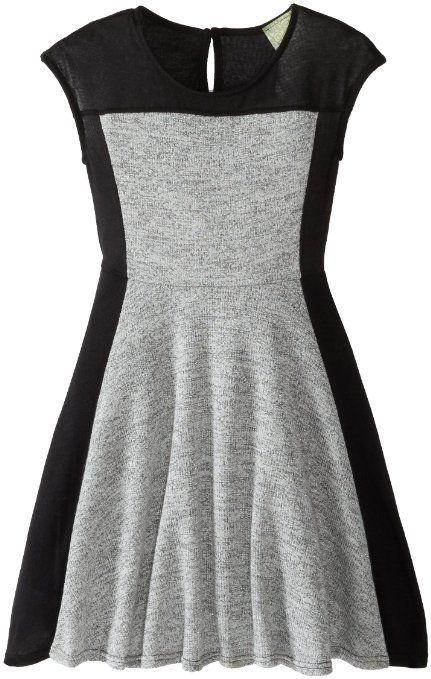 Amazon.com: Kiddo Girls 7-16 Color Blocked Dress: Clothing