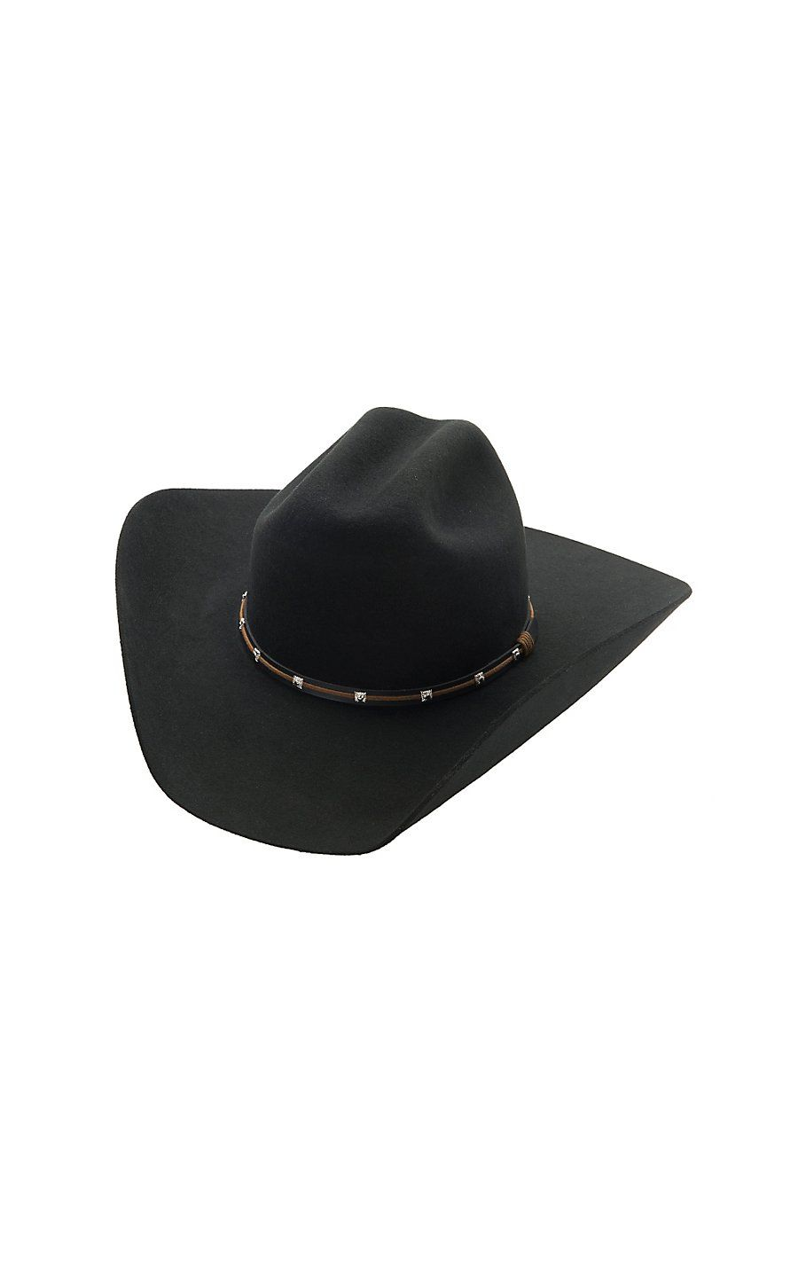 cb138c9c231344 Rodeo King® 3X Low Rodeo Black Felt Cowboy Hat- LRD3BK1600 | Cowboy ...
