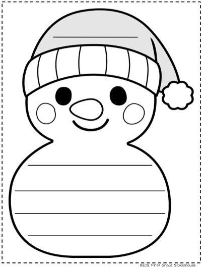 Winter kindergarten writing activities.