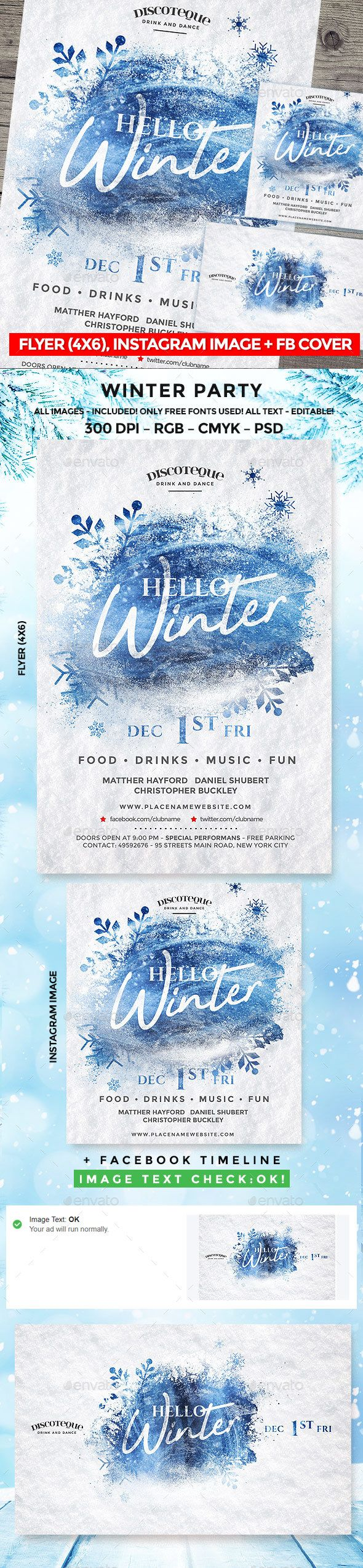 Winter Party  Winter Parties Event Flyers And Party Flyer
