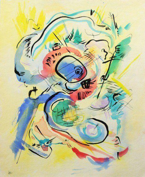 Wassily Kandinsky (1866-1944) Original Watercolor on ...