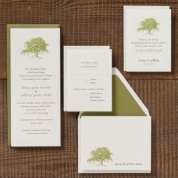 oak tree wedding invitation alissa jeffrey paper source - Paper Source Wedding Invitations