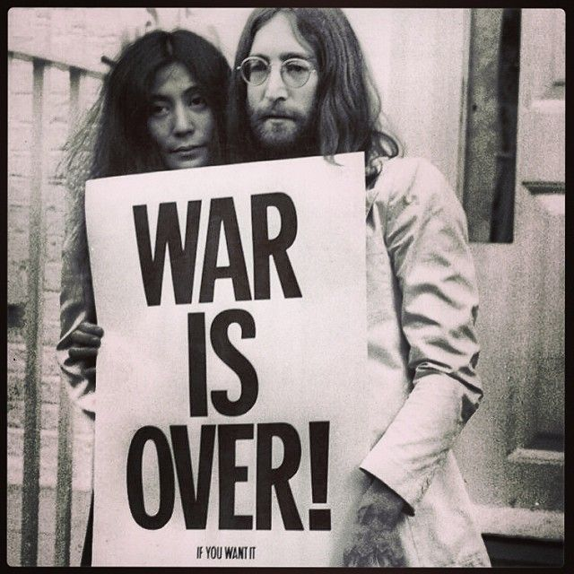 War is over if you want it,  war is over Now. #MerryChristmas #WithoutAnyFear :)) - @marlypallina- #webstagram