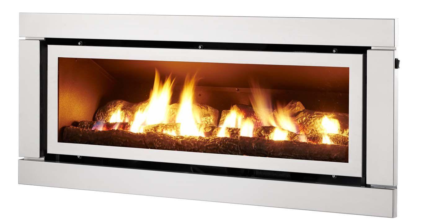 Matrix Gfx S Gas Log Fire Fireplace Tile White Stone Fireplaces
