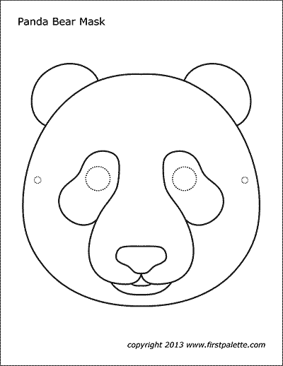 Panda Mask Free Printable Templates & Coloring Pages