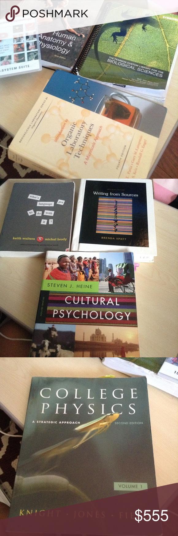 Textbooks -pre calculus, anatomy & physiology. Etc Various textbooks ...
