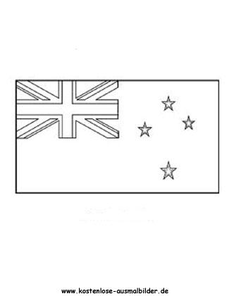 Ausmalbild Fahne Flagge Neuseeland Neuseeland Flagge Neuseeland Fahnen