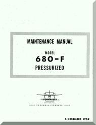 Aero Commander 680 F Aircraft Maintenance Manual , 1962