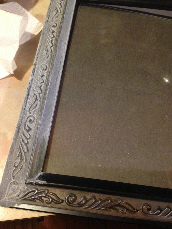 DIY Distressed Frame - How to Make a New Frame Look Old | Cabins ...