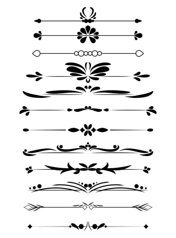 12 Decorative Dividers Flourish Clipart Text Divider Etsy In 2020 Clip Art Borders Text Dividers Vintage Text