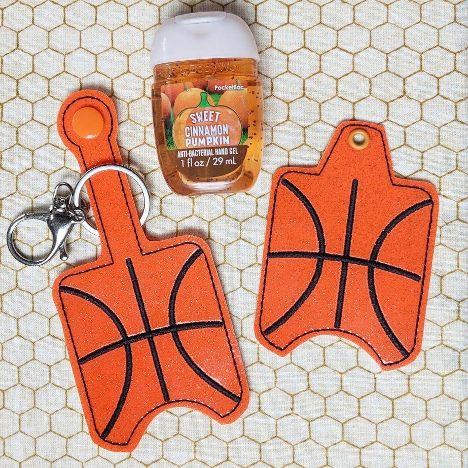 Basketball Sports Hand Sanitizer Holder Key Fob Snap Tab