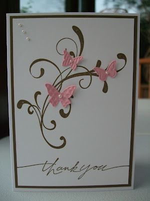 Absolutely love the use of a flourish stamp with butterflies
