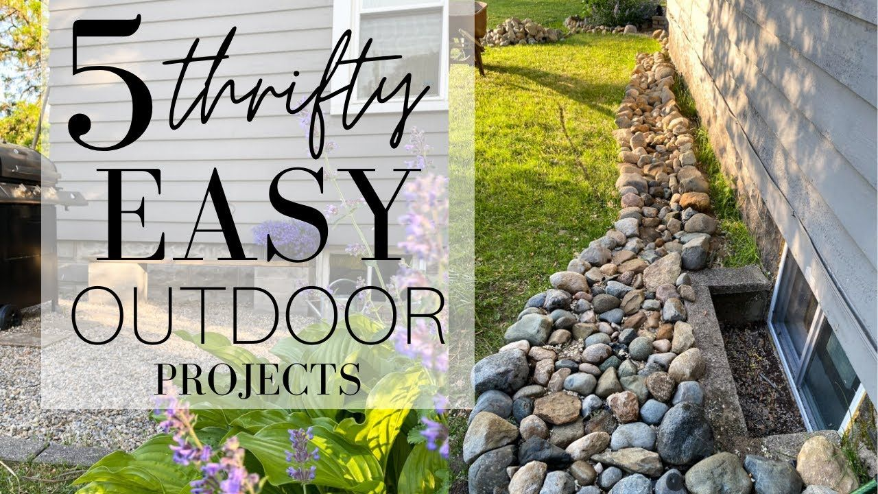 5 Thrifty Easy Outdoor Diy Projects Outdoor Diy Projects Diy Outdoor Outdoor Diy backyard projects youtube