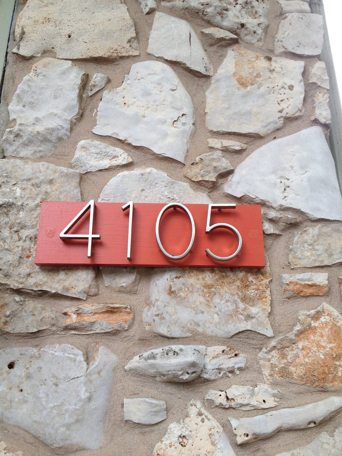 A Modern Address Plaque Is An Easy And Fun Project That Adds Character Click Here For Step By Step Mid Century Modern House Modern House Number House Numbers