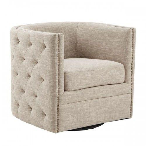 Groovy Cream Linen Color Button Tufted Square Swivel Chair In 2019 Creativecarmelina Interior Chair Design Creativecarmelinacom