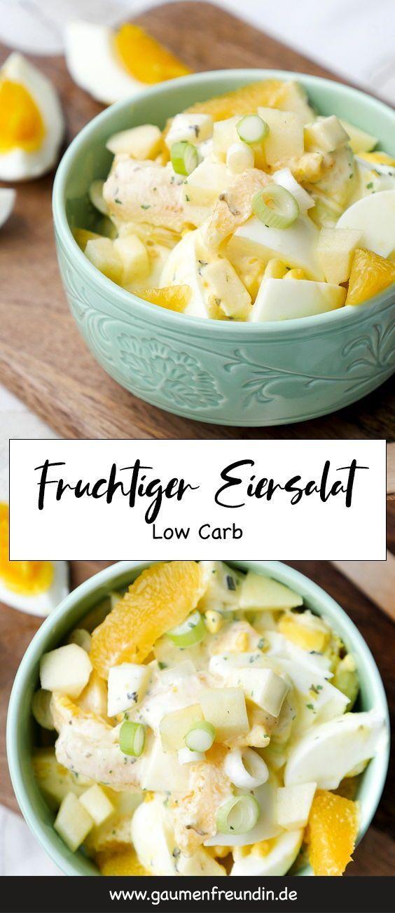 Eiersalat mit Orangen, Äpfeln und Curry   - Gaumenfreundin Foodblog - Gesunde & schnelle Rezepte-#chickensalad