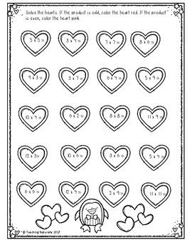 Free Valentine's Day Math Printables/worksheets (2nd/3rd