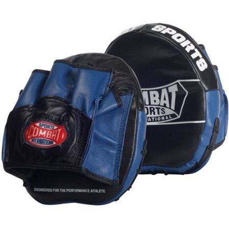 Leather Blue Body Combat Gel Gloves MMA Boxing Punch Bag Martial Arts Karate