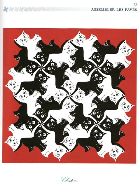 Finished version of Kitten Tessellation by Alain Nicolas ...