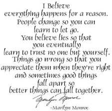 Everything Happens For A Reason Marilyn Monroe Pinterest