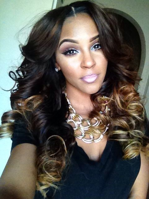 brown weave with blonde ends - Google Search | Hair styles ...