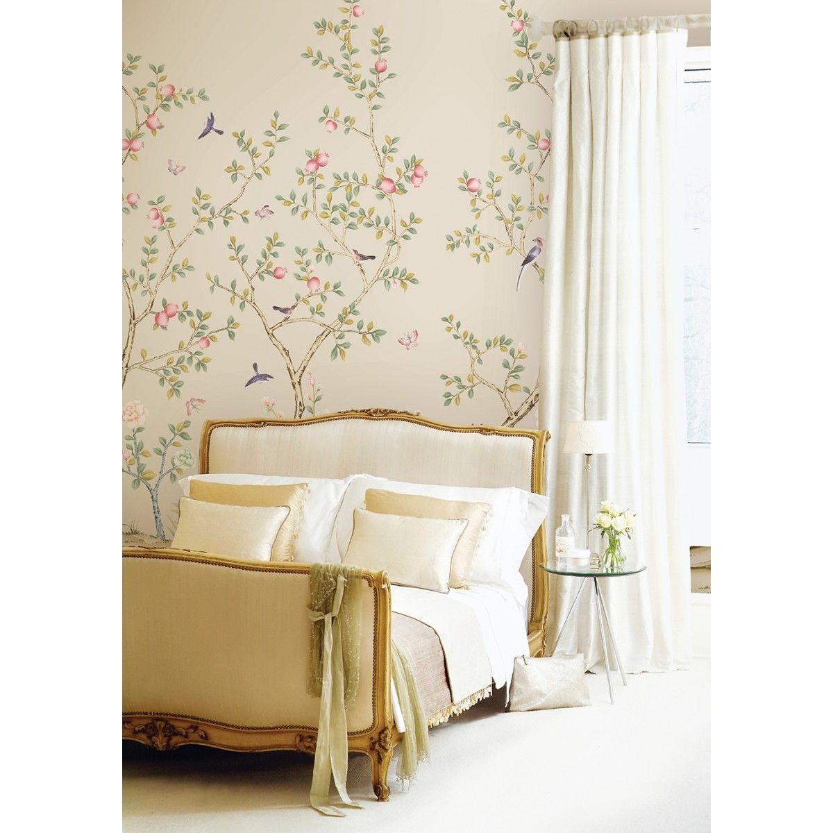 CHINOISERIE Pomegranate Sand Bedroom design, Bedroom