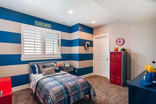 Lineas Horizonte Dormitorio Nin At S Habitacion Moderna Decorar - Decoracion-dormitorios-juveniles-modernos