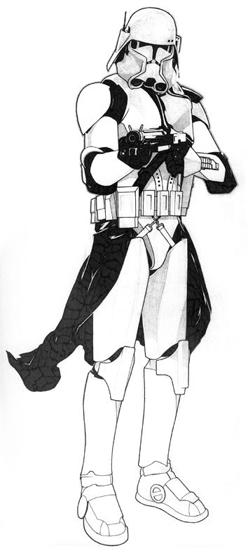 Commander Bacara Inks by Jeff Spokes | Star wars baby ...