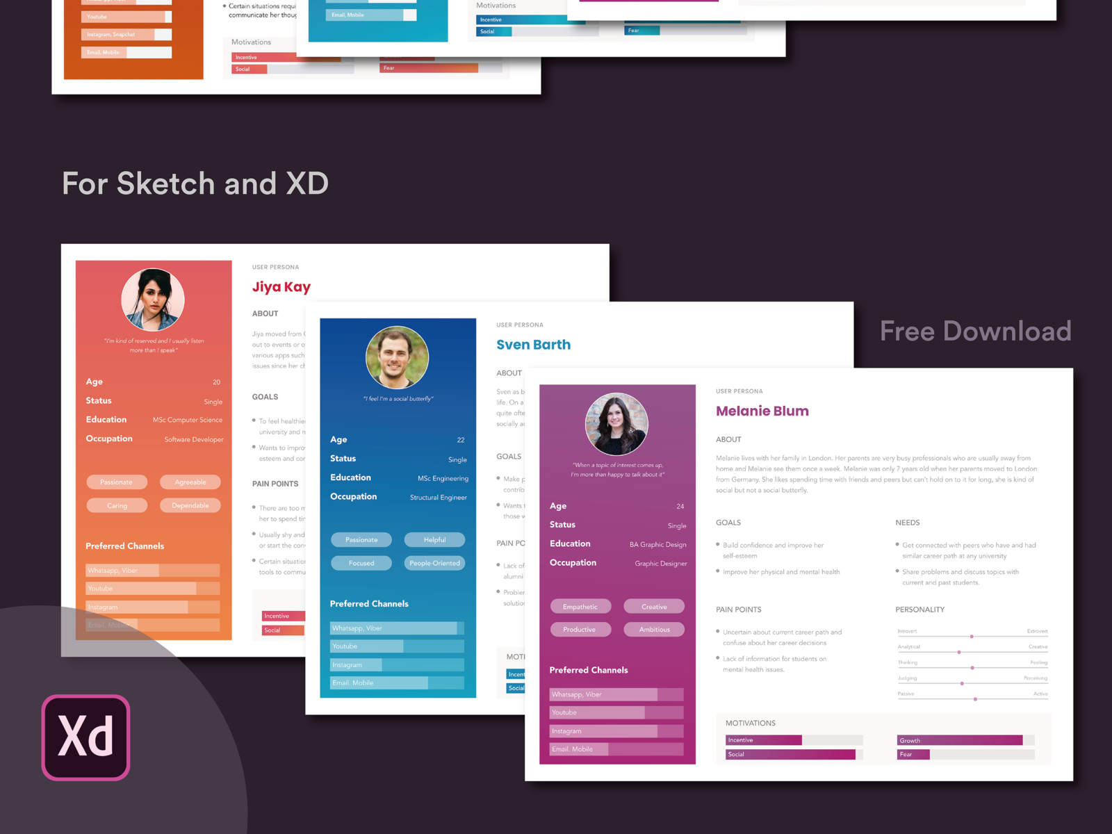Free User Persona Template For Sketch And Adobe Xd Adobe Xd
