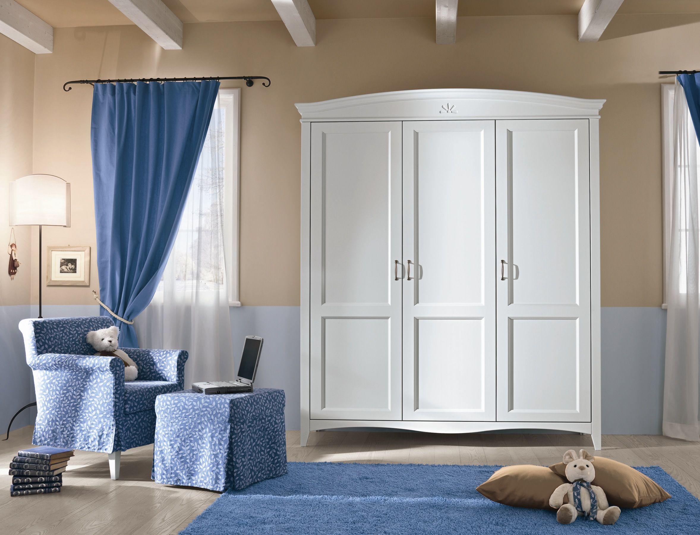 Callesella Camerette ~ Cecilia patinato beige è un armadio completamente personalizzabile