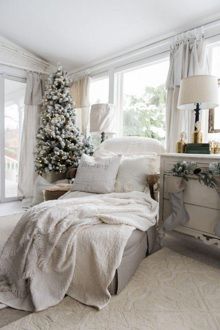 33 comfy christmas bedroom decor ideas farmhouse