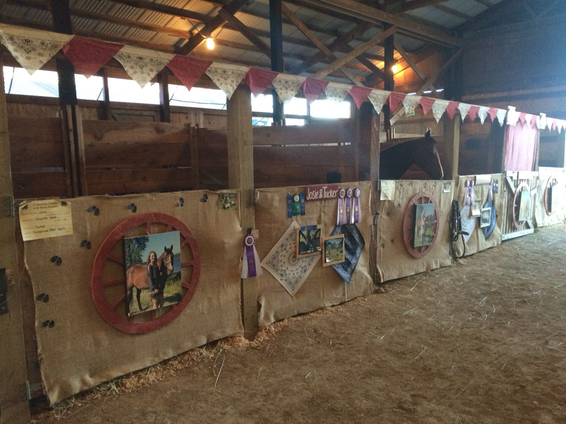 4h Horse Stall Decorations Queen Princess County State Pigs