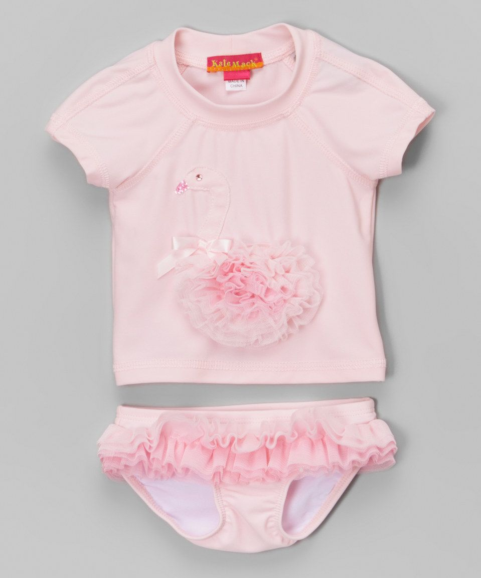 Another great find on #zulily! Pink Ruffle Rashguard Set - Infant by Biscotti & Kate Mack #zulilyfinds