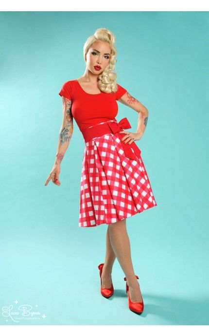Jersey Cap Sleeve Top in Red  | Pinupgirlclothing.com