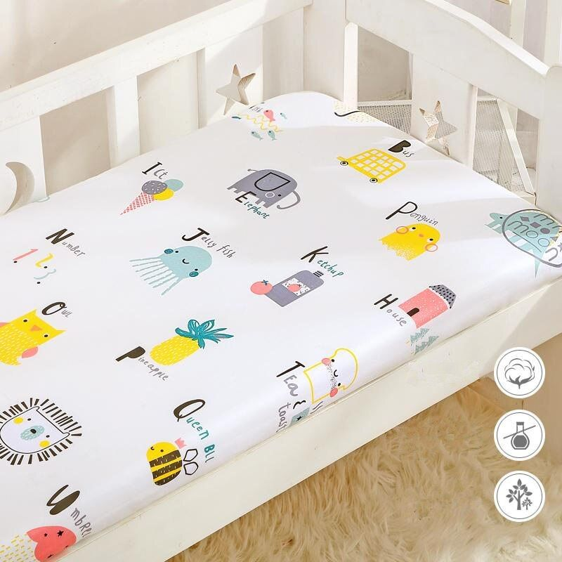 New Coming Colors Crib Fitted Sheet Soft Cotton Baby Bed Mattress Cover For Boys Girls Cot Newborn Baby B In 2020 Mattress Covers Cotton Baby Bedding Fitted Crib Sheet
