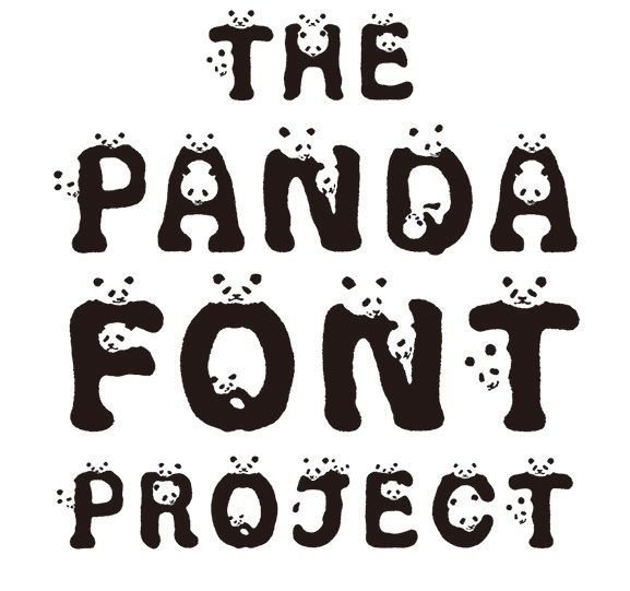 Animal Awareness Typefaces Eco Friendly Ideas Fonts Panda