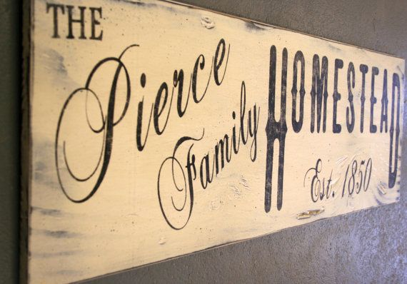 Rustic Personalized Sign Vintage Farmhouse Sign Custom Sign Shabby ...