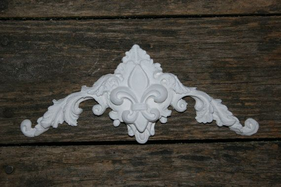 Shabby Chic Furniture Appliques Furniture Mouldings Onlays Shabby Chic Appliques Arhictectural Pieces Fleur De Lis Diy Furniture Shabby Chic Furniture Shabby Chic Style Furniture Shabby Chic Furniture Painting
