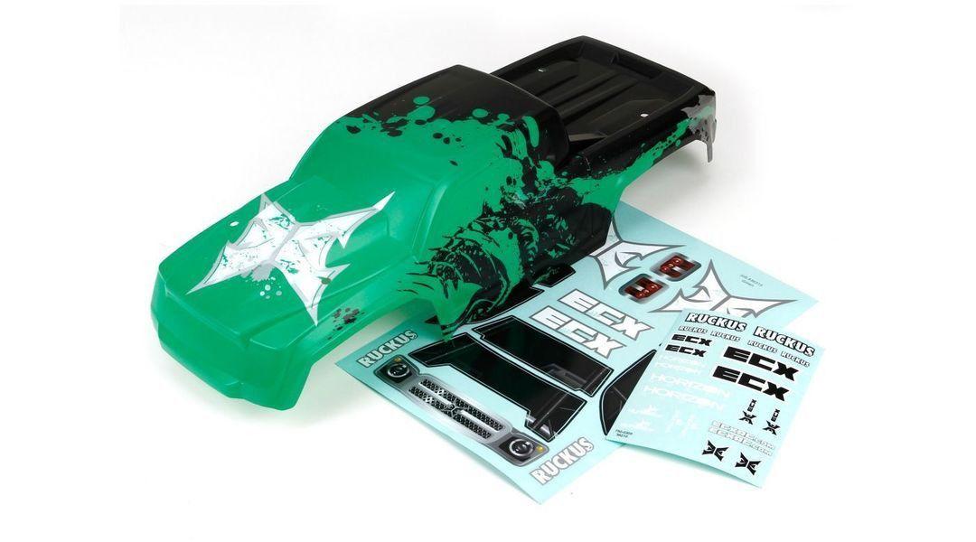 ECX230003 - ECX Ruckus Body Green Black