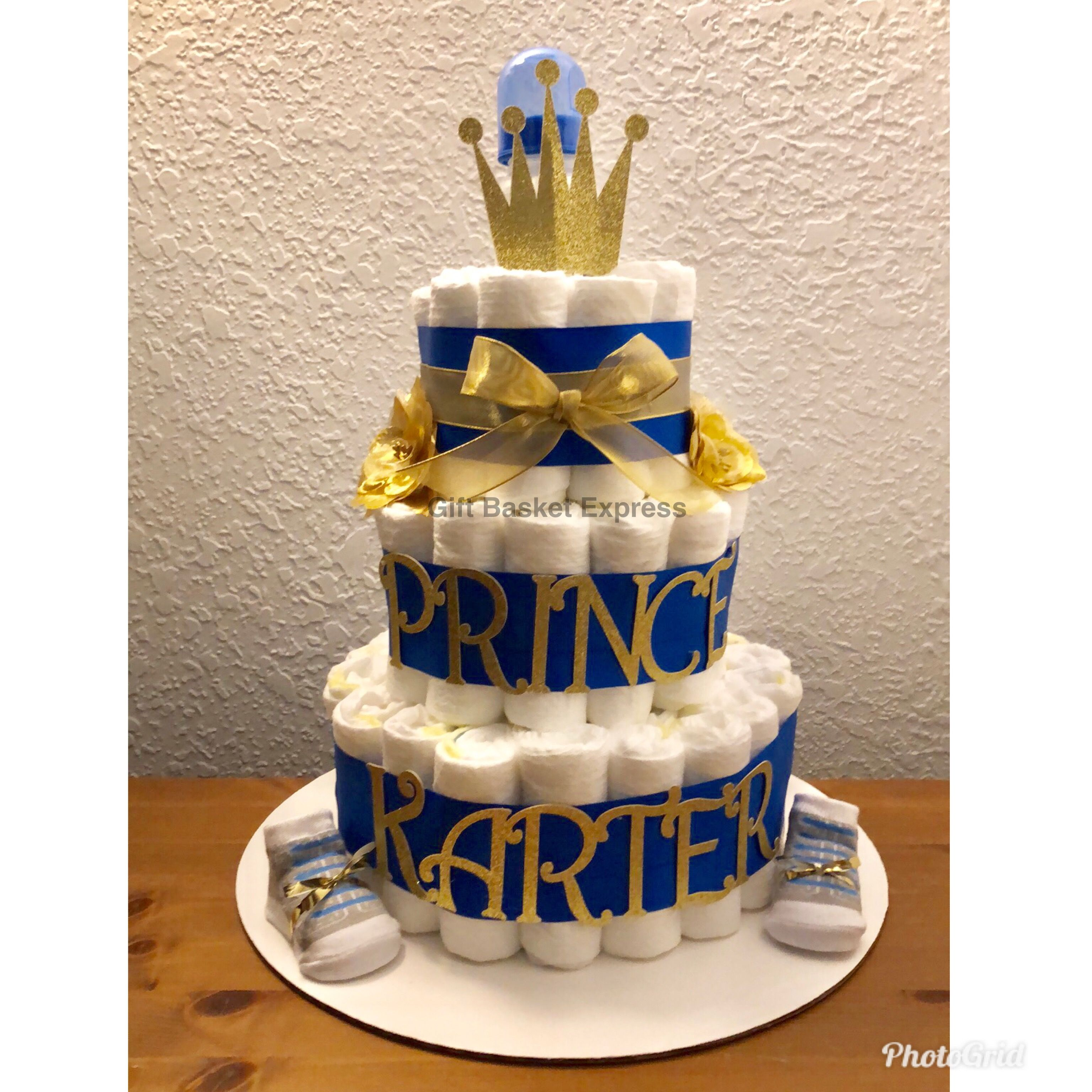Get A Custom Diaper Cake Fit For A Prince At