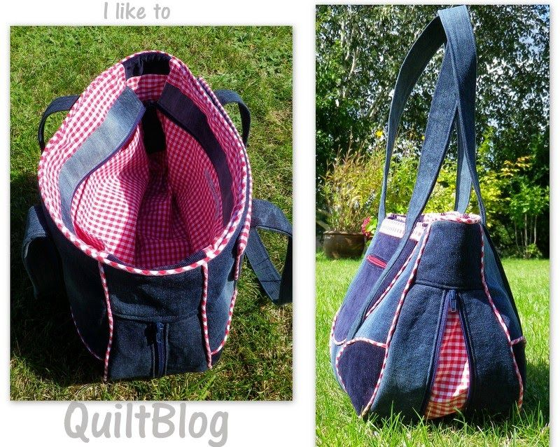 gingham denim bag rileyblakedesigns gingham gingham style pinterest denim bag bag and. Black Bedroom Furniture Sets. Home Design Ideas