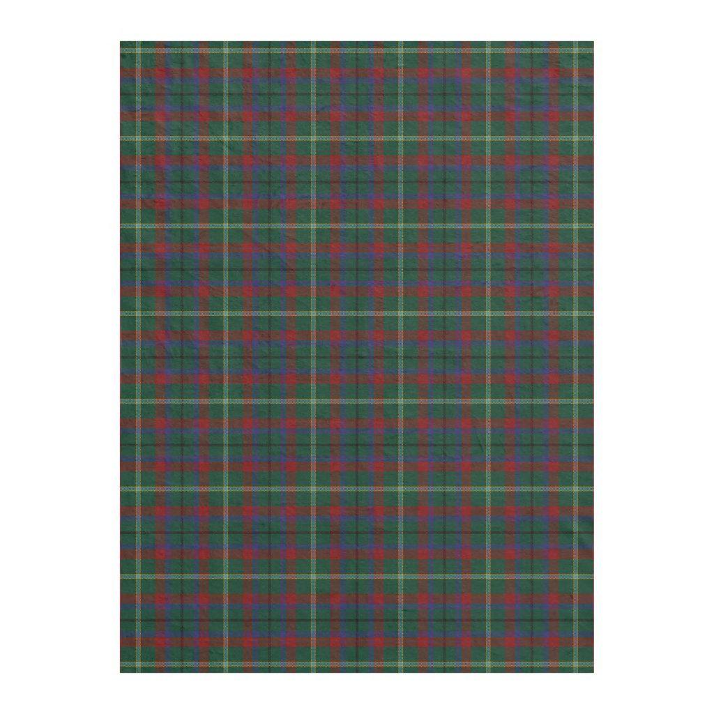 County Mayo Irish Tartan Fleece Blanket in
