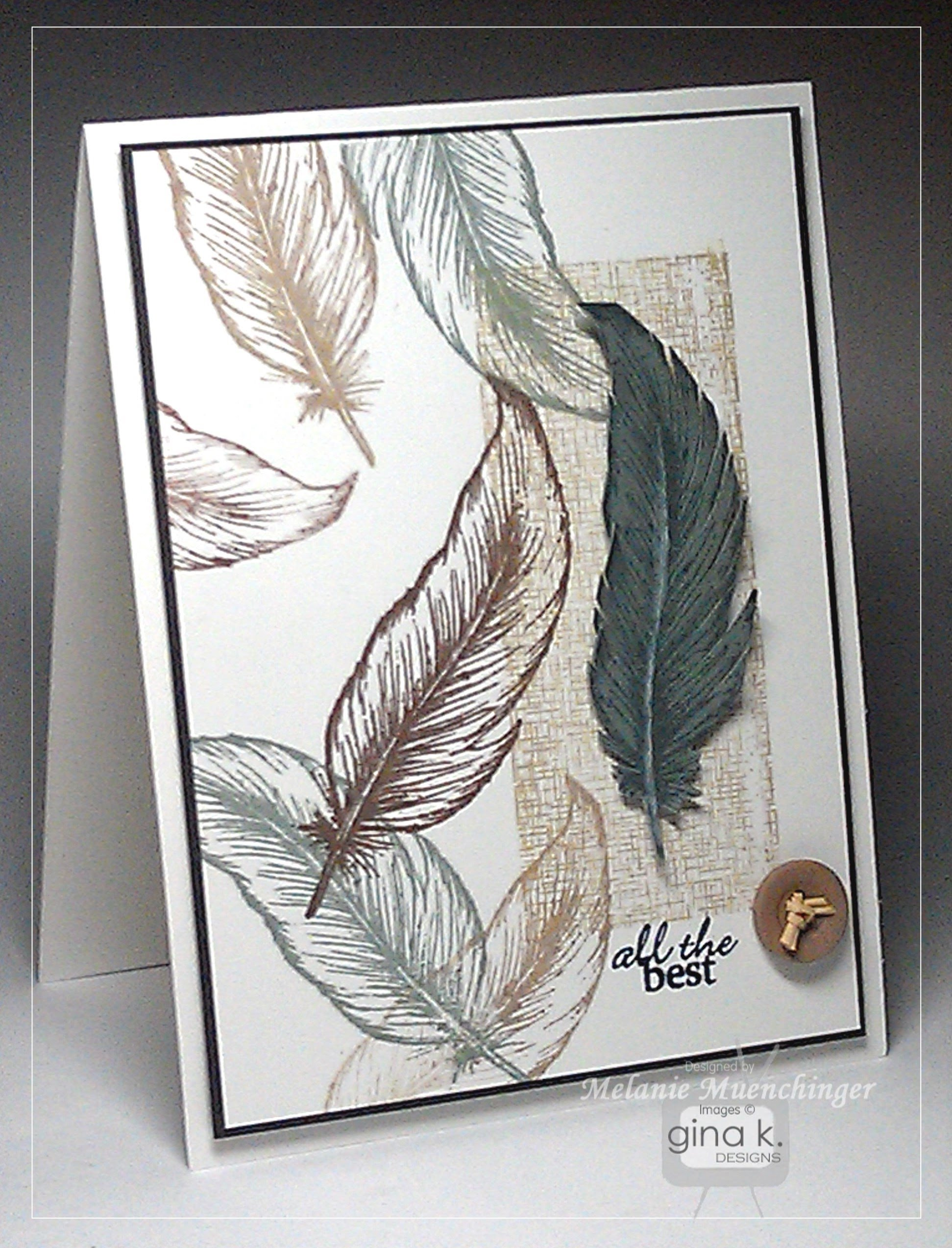 Crafting with Stamped Feathers