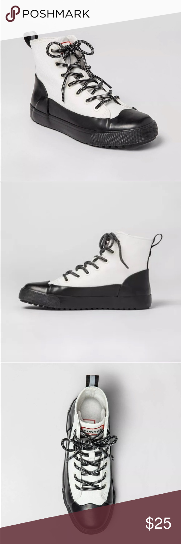 Hunter for Target Canvas Sneakers White Black Unisex Water Repellent NEW Various